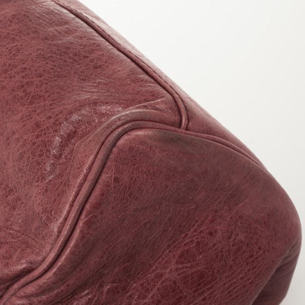 Balenciaga Pink Lambskin Leather Giant 12 Silver Town Bag