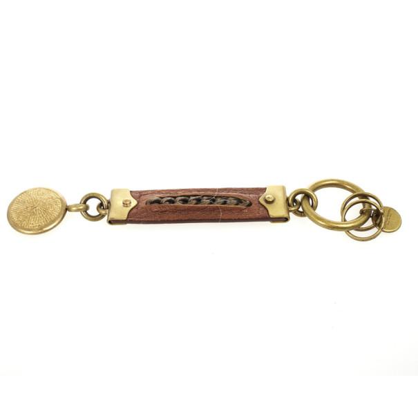 Bottega Veneta Brown Leather Key Ring
