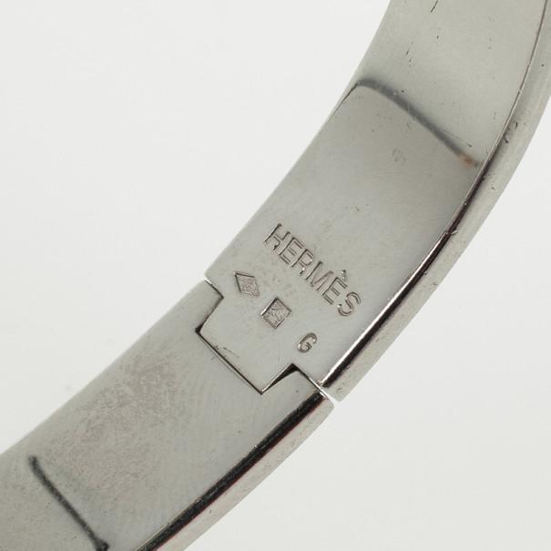 Hermes Orange Enamel Clic H Bracelet