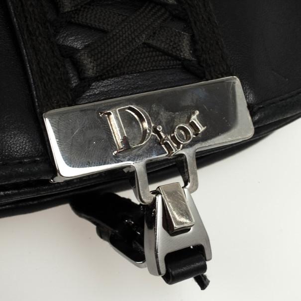 Christian Dior Black Leather 'Admit It' Shoulder Handbag