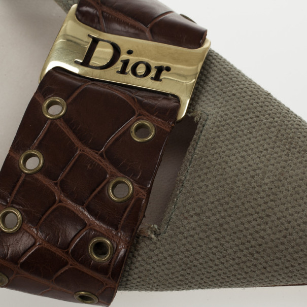 Christian Dior Croc Embossed Mules Size 37