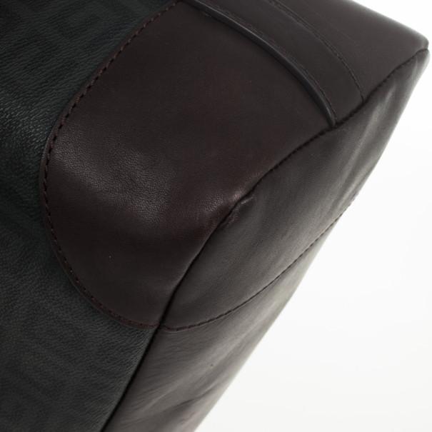 Givenchy Monogram Leather Trim Boston Bag