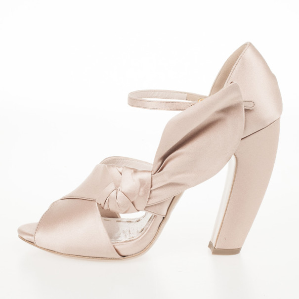 Miu Miu Satin Ankle Strap Sandals Size 39