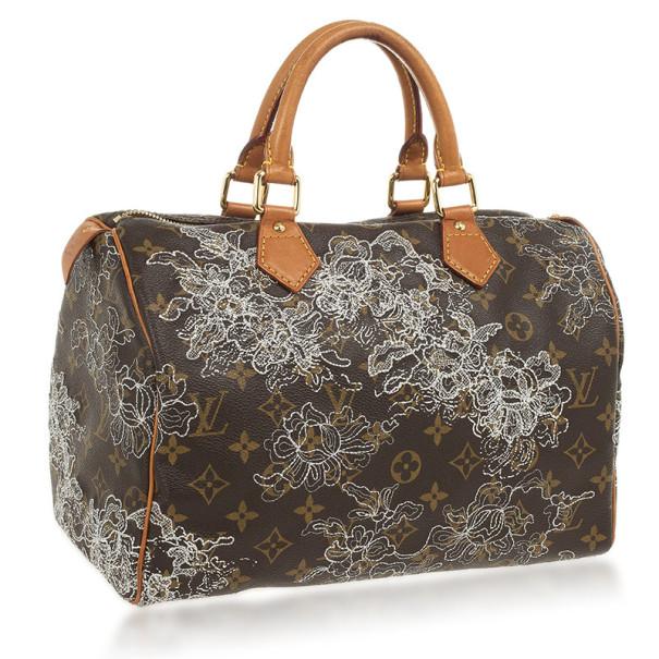 Louis Vuitton Dentelle Speedy 30 Bag