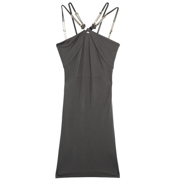 Gucci Grey Dress with Metal Detail L