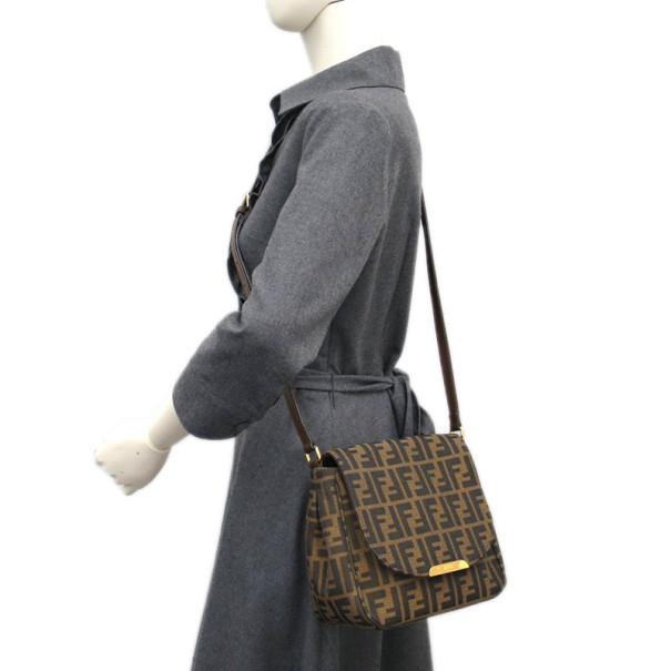 Fendi Brown Zucca Canvas Crossbody Bag