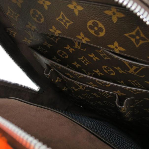 Louis Vuitton Orange Monongram Fleece Celebrating Backpack