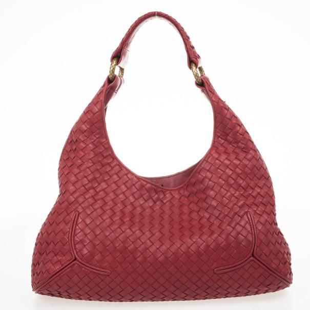 Bottega Veneta Carmine Woven Leather Ball Hobo Bag