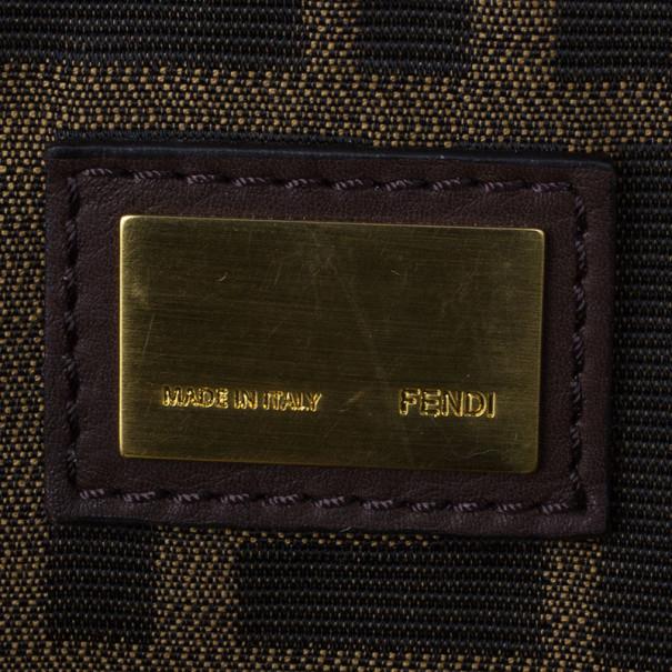 Fendi Brown Leather Large Peekaboo Satchel
