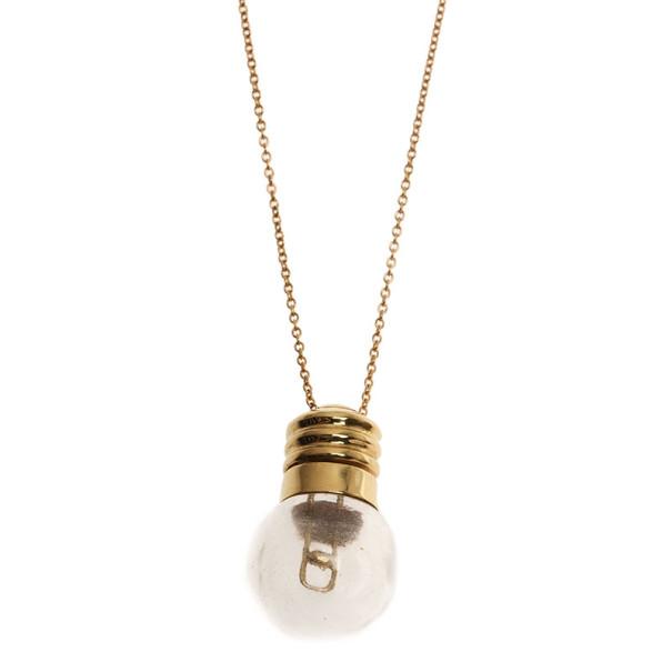 Tiffany & Co. Vintage Peretti Crystal Light Bulb Parfum Holder Pendant Necklace