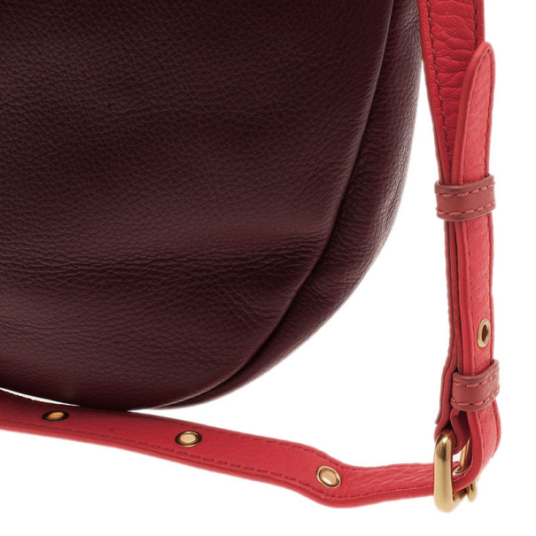Marc by Marc Jacobs Maroon Leather Hillier Hobo