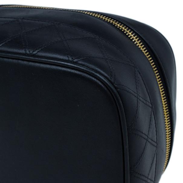 Chanel Black Lambskin Leather Vanity Bag