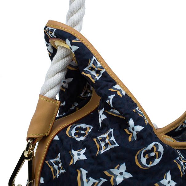 Louis Vuitton Limited Edition Blue Nylon Bulles MM