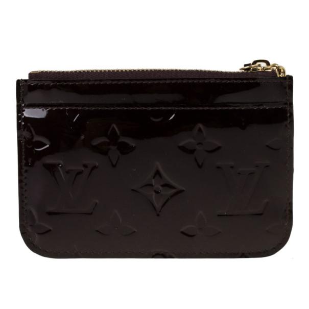 Louis Vuitton Amarante Monogram Vernis Key Pouch
