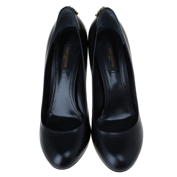Louis Vuitton Black Leather Oh Really! Pumps Size 37.5