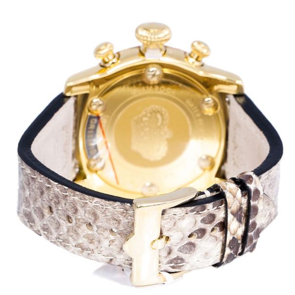 Glam Rock Black Gold-Plated Steel Miami GR11141D Women's Wristwatch 46MM