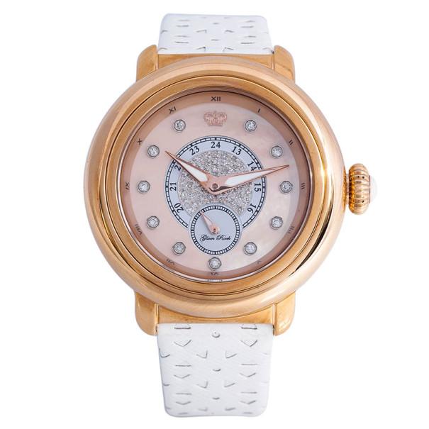 Glam Rock Pink Gold-Plated Steel Bal Harbour GR77007 Women's Wristwatch 40MM
