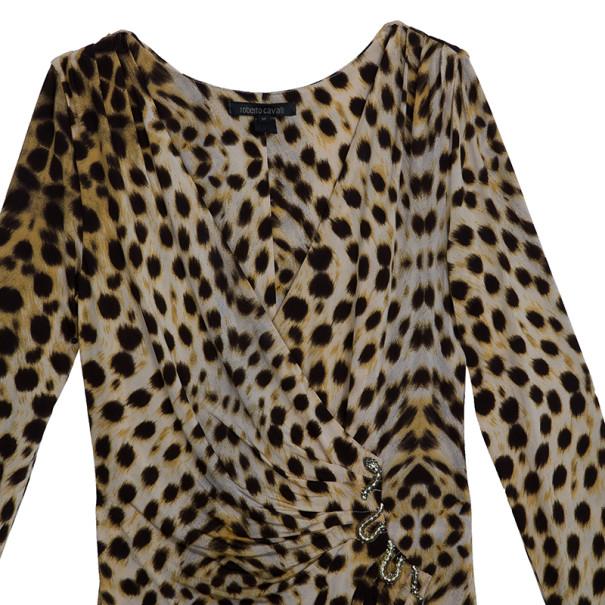 Roberto Cavalli Leopard Print Dress M