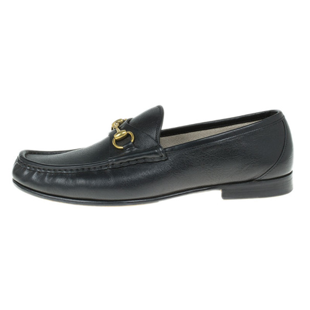 Gucci Black Leather 1953 Horsebit Loafers Size 43