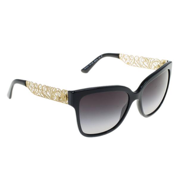 Dolce and Gabbana Black Filigree Sunglasses