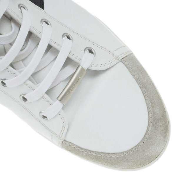 Dior Two-Tone Leather High Top Sneakers Size 43