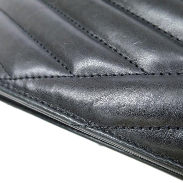 Chanel Black Lambskin Gabrielle Chain Shoulder Bag