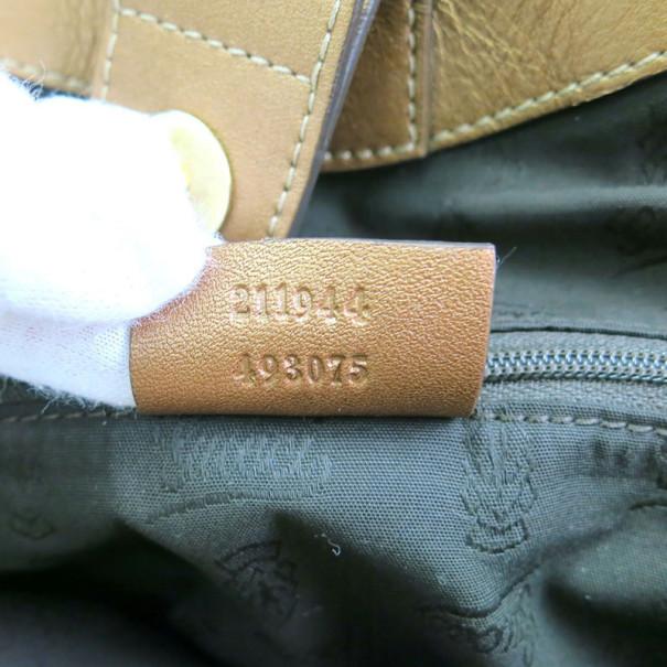 Gucci Medium GG Leather Bronze Sukey Tote