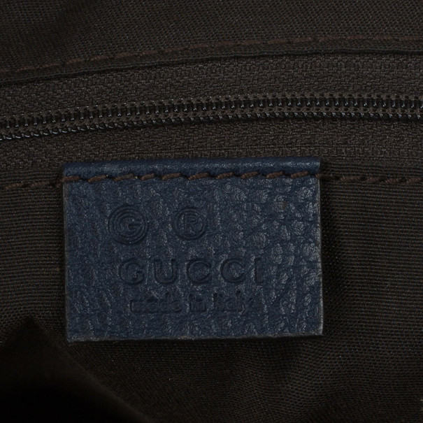 Gucci Blue GG Coated Canvas Large Crossbody