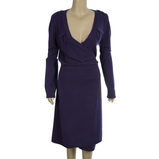 Diane Von Furstenberg 'Grodnica' Wool Wrap Dress L