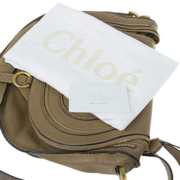 Chloe Brown Leather Medium Marcie Crossbody