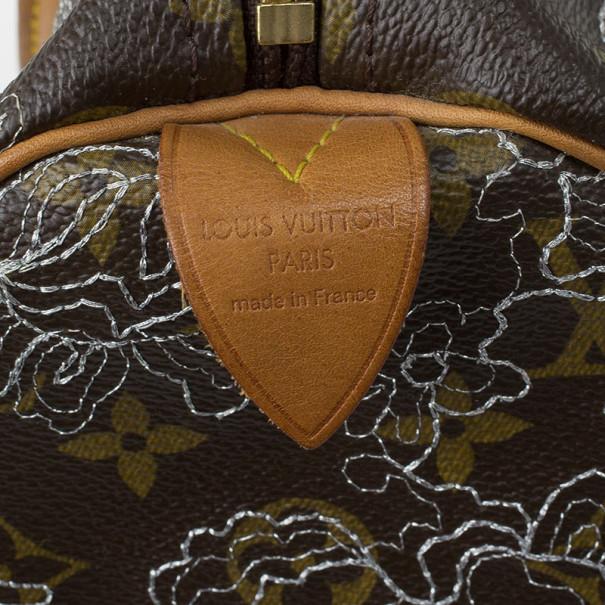 Louis Vuitton Monogram Canvas Dentelle Speedy 30