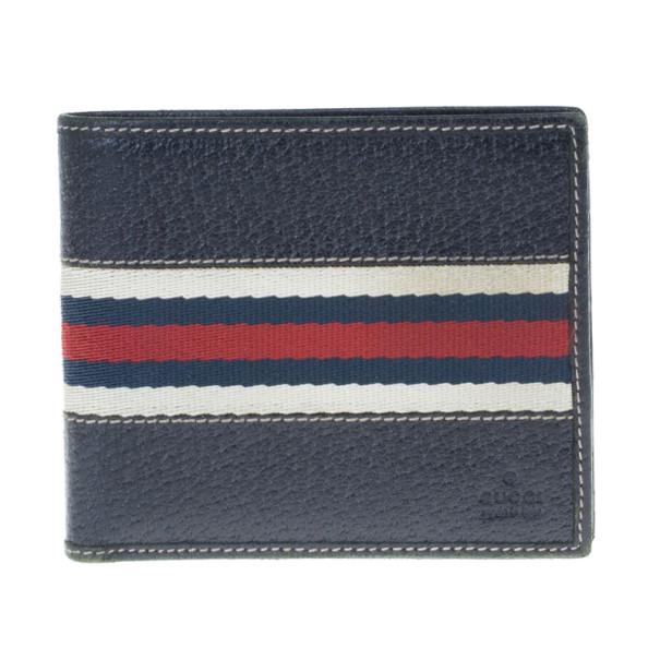 Gucci Signature Web Leather Men Bi-fold Wallet