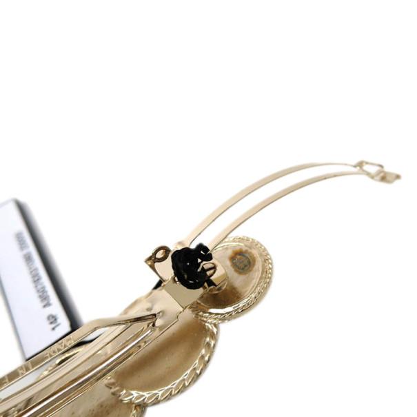Chanel Icon Champagne Gold Barette Hair Accessory