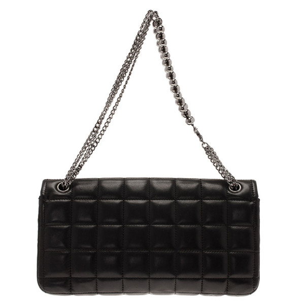 Chanel Black Chocolate Bar East West Limited Edition Shoulder Bag
