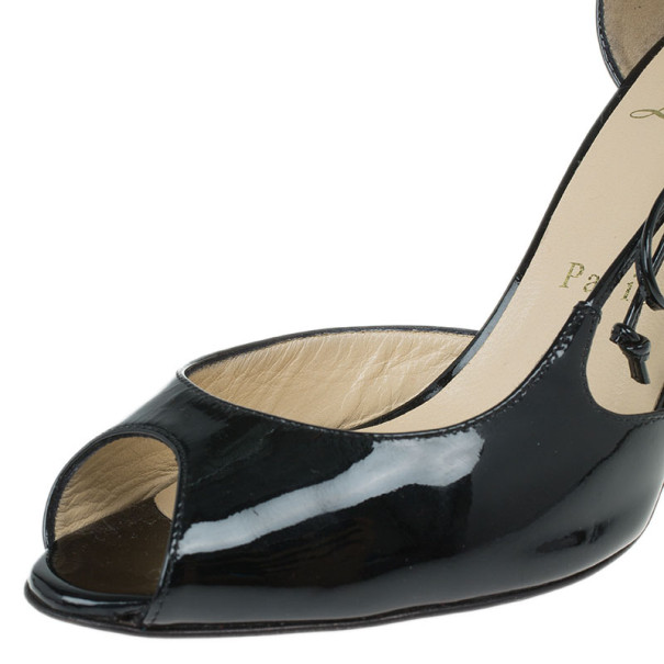 Christian Louboutin Black Patent Leather 'Delico 100' D'orsay Pumps Size 36