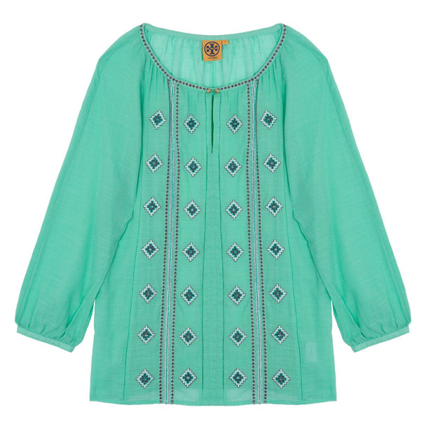 Tory Burch 'Lucille' Embroidered Top M