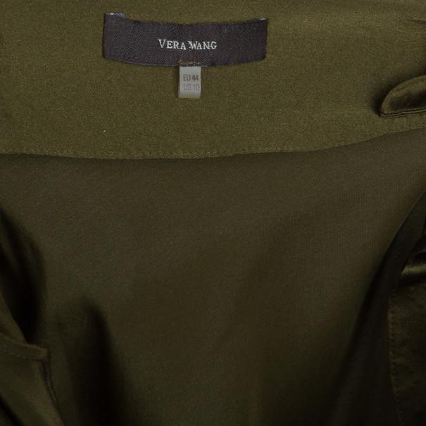 Vera Wang Silk Olive Green Dress L