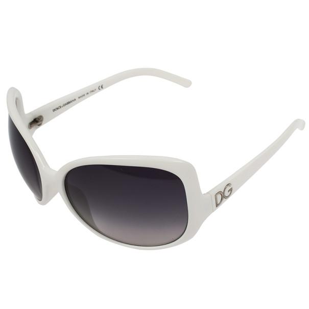 Dolce and Gabbana White Oversized Square Sunglasses