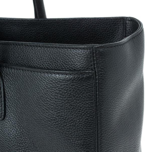 Chanel Black Jumbo Black Caviar Leather Executive Cerf Tote