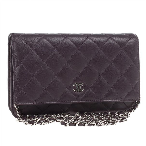 Chanel Purple Lambskin WOC