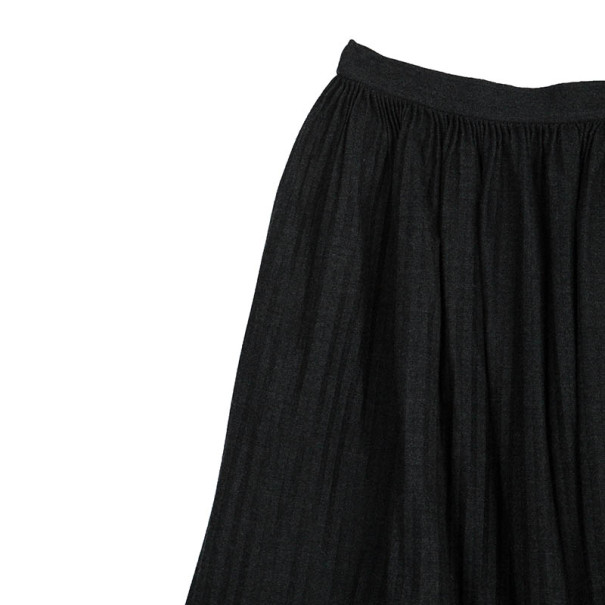 Valentino Grey Pleated Skirt L
