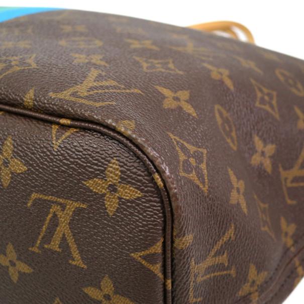 Louis Vuitton Blue Mon Monogram Neverfull Tote PM