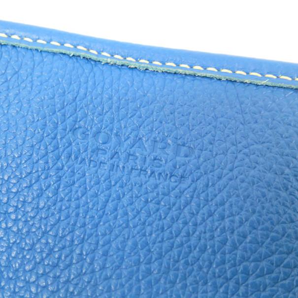 Goyard Blue Canvas Hardy Tote PM