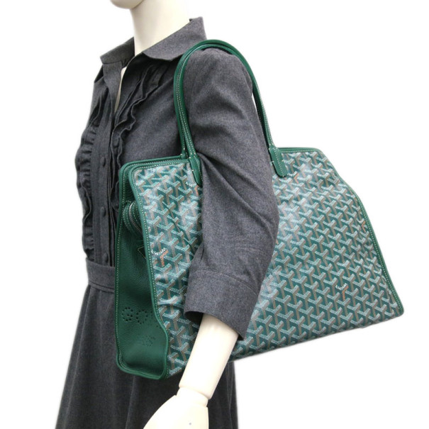 Goyard Green Canvas Hardy Tote PM