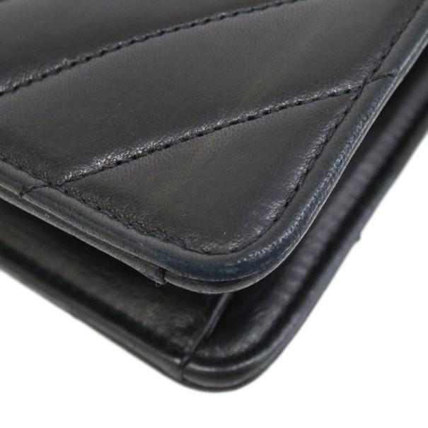 Chanel Black Chevron Lambskin Shoulder Bag
