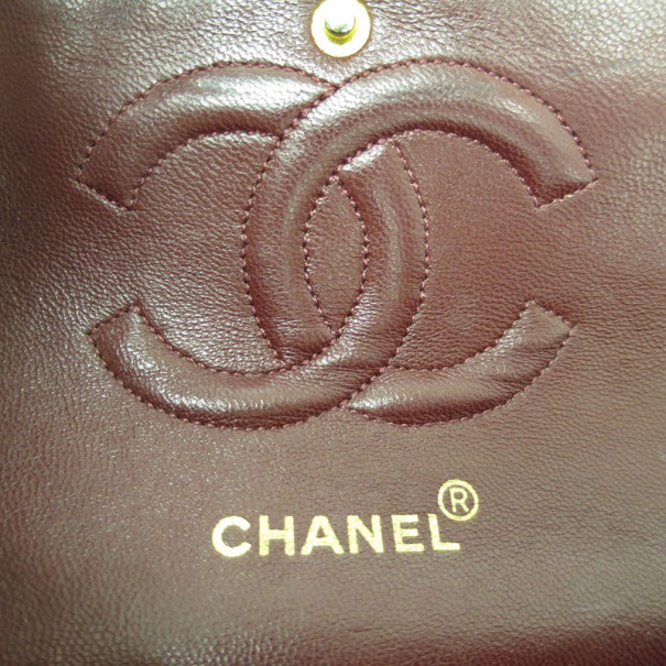 Chanel Black Lambskin Double Flap Small Shoulder Bag