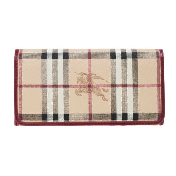 Burberry Haymarket Check Continental Wallet