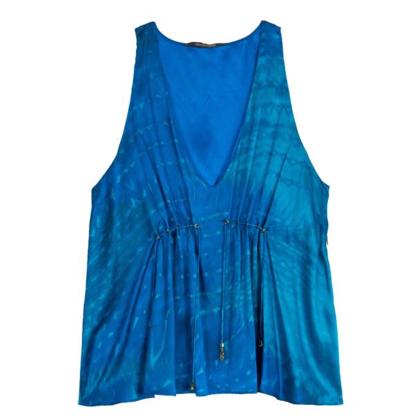 Roberto Cavalli Silk Sleeveless Blouse L