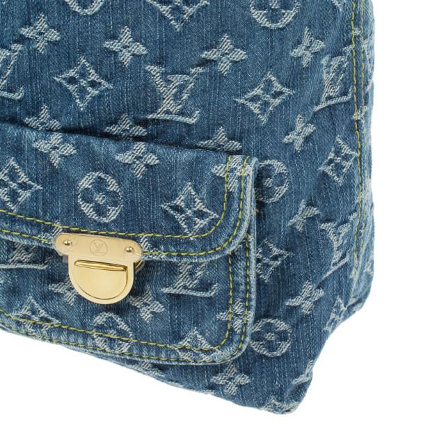 Louis Vuitton Blue Denim Monogram Baggy GM