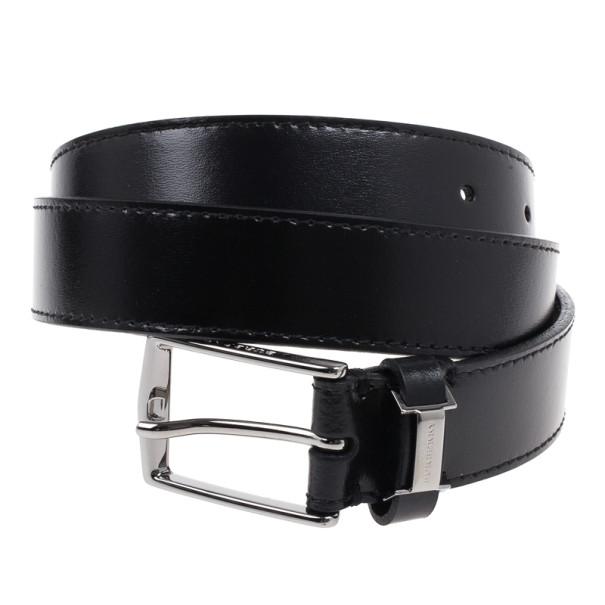 Burberry Black Leather Belt 90CM
